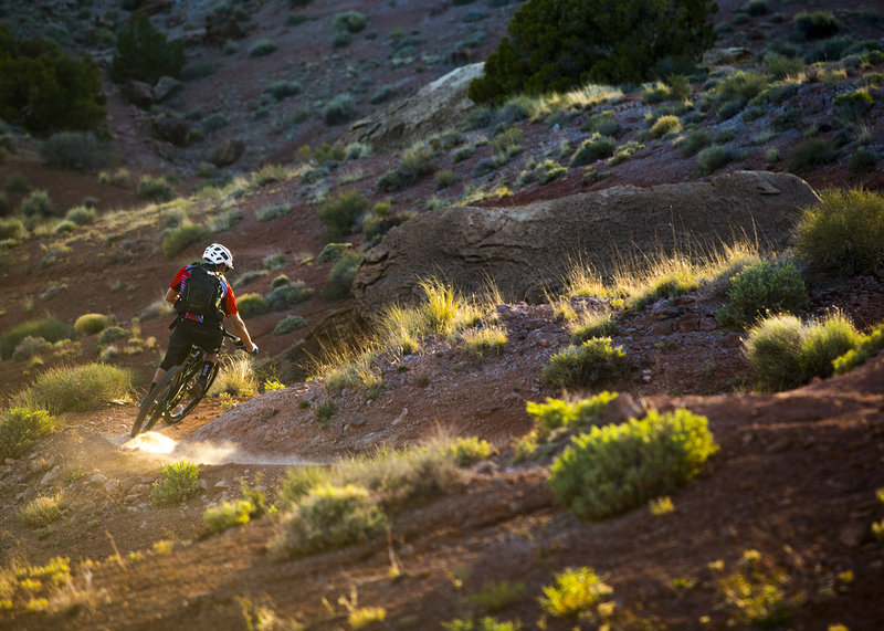 Cruising at sunset on the UFO trail.