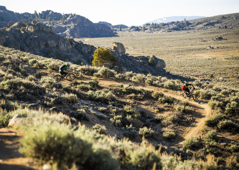 The backside of The Ridge trail descends through a series of fun and fast turns.