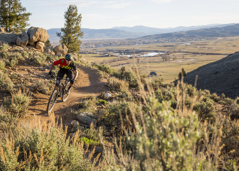 Tailpipe is a great way to start off a ride at Hartman Rocks; great views and lots of fun and flow.