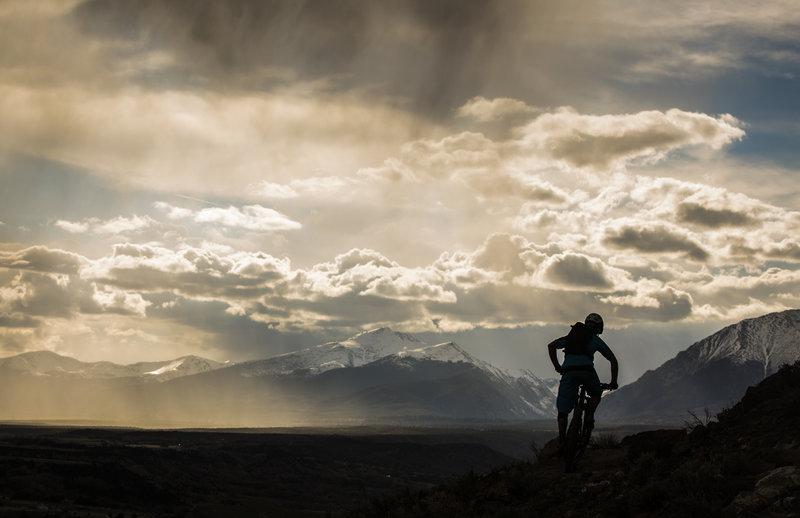 Frontside trail provides stellar views of the high peaks surrounding Salida.