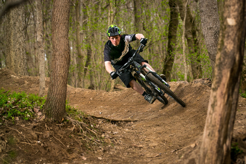 Ripping the fresh Kymba built berm!
