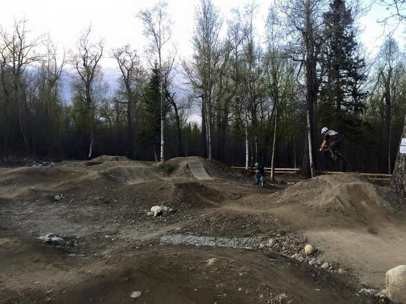 Waiting for the grass to green up at Palmer Bike Park - Spring 2015