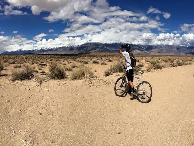 Climbing Casa Diablo looking at White Mountains