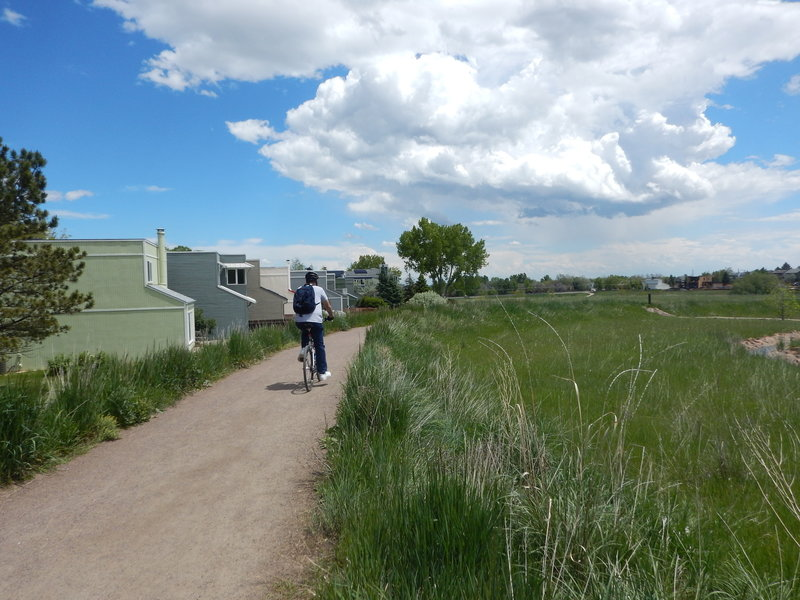 Biking along the west side of Wonderland Lake