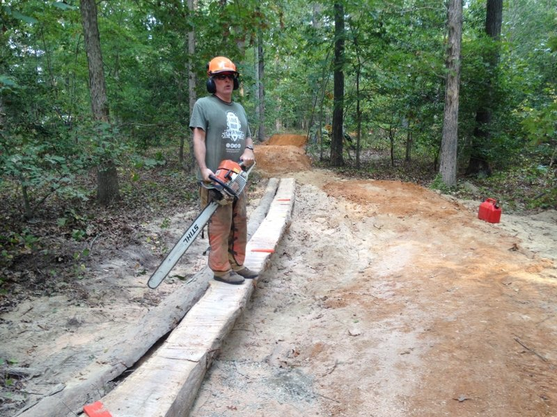 Making a skinny for the new Gatway Trail.