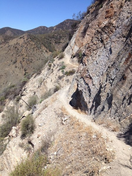 One of the more exposed sections of the Santa Cruz Trail