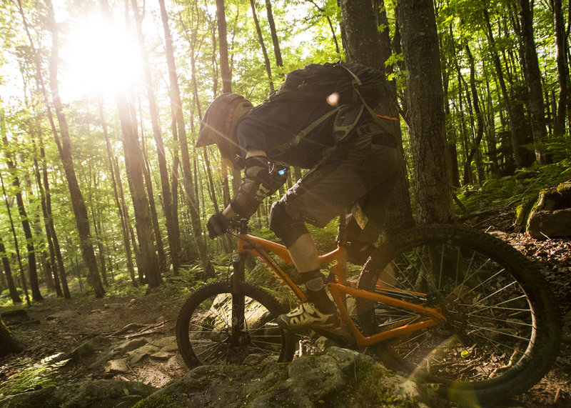 The Pro DH trail has plenty of steep and chunky sections.