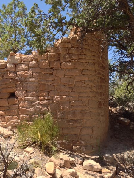 Ancient rock house near the trail.