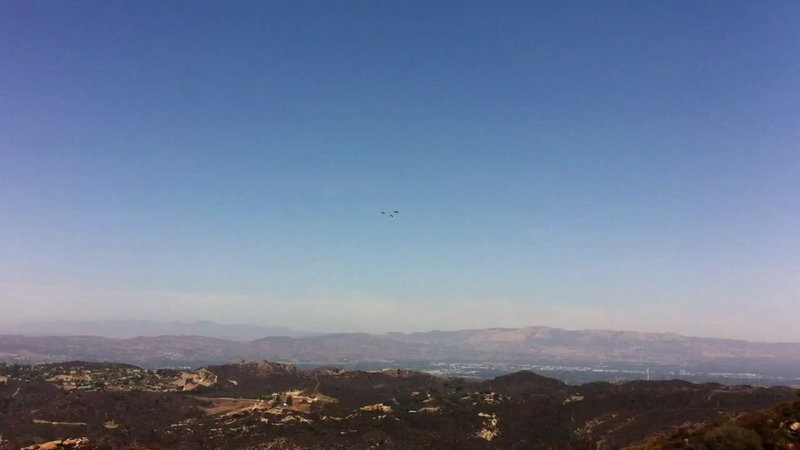 View north from Mulholland over the San Fernando Valley