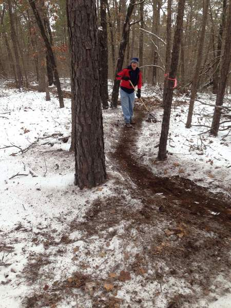 Trail clearing on Easy Rider.