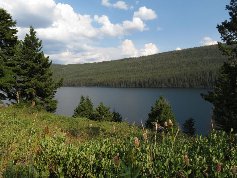 Grand Mogul Trail along Redfish Lake