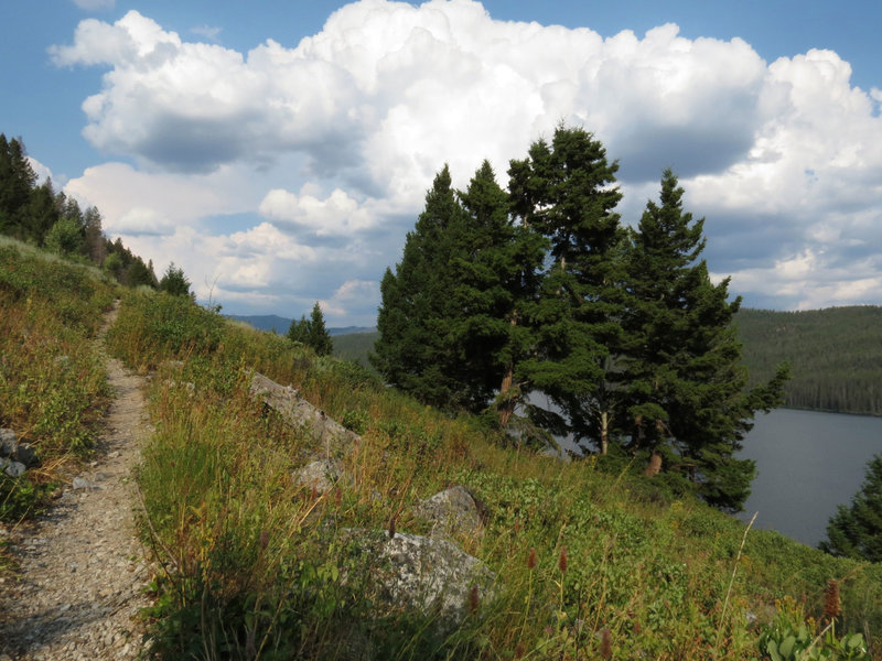 Trail along Redfish Lake