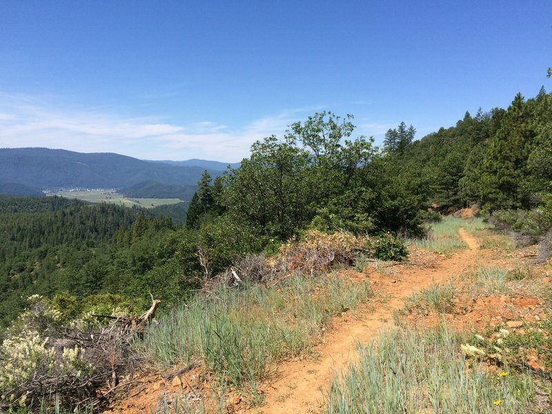 Amazing views of American Valley on the newest section of the Mt. Hough trail system!