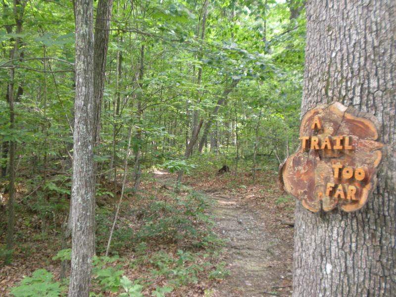 Creative trail sign