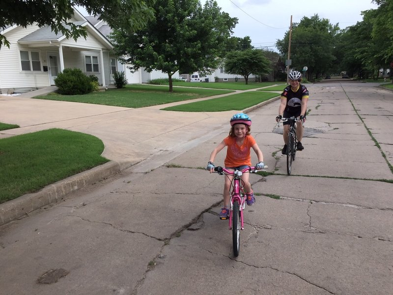 Riding the Schweiter Bikeway after the ribbon cutting ceremony