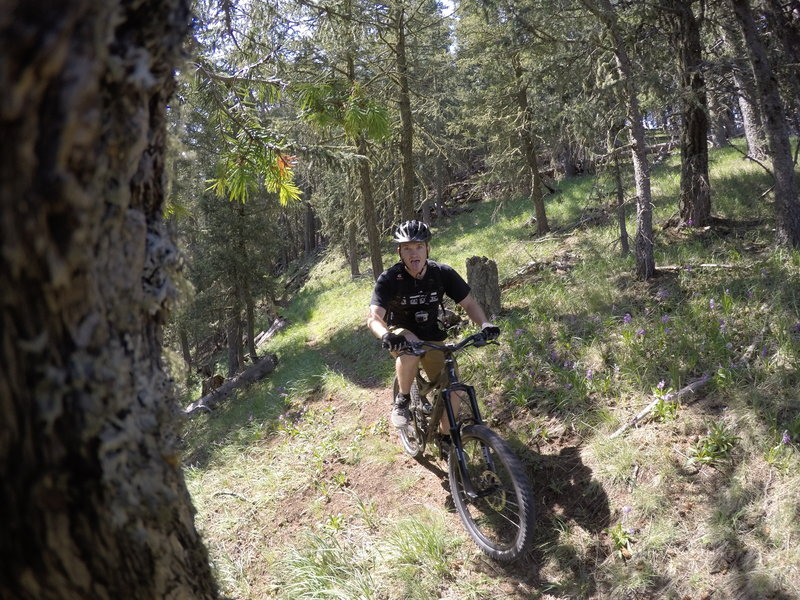 Stoked rider on Trail 10 - Copper Canyon