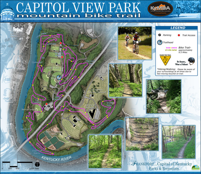 Map of CVP from the 2013 12 Hours of Capitol View MTB Race.