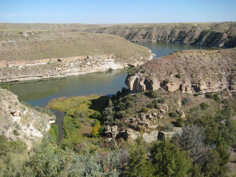 End of the South Shore Trail overlooking Box Elder Canyon and the Missouri River