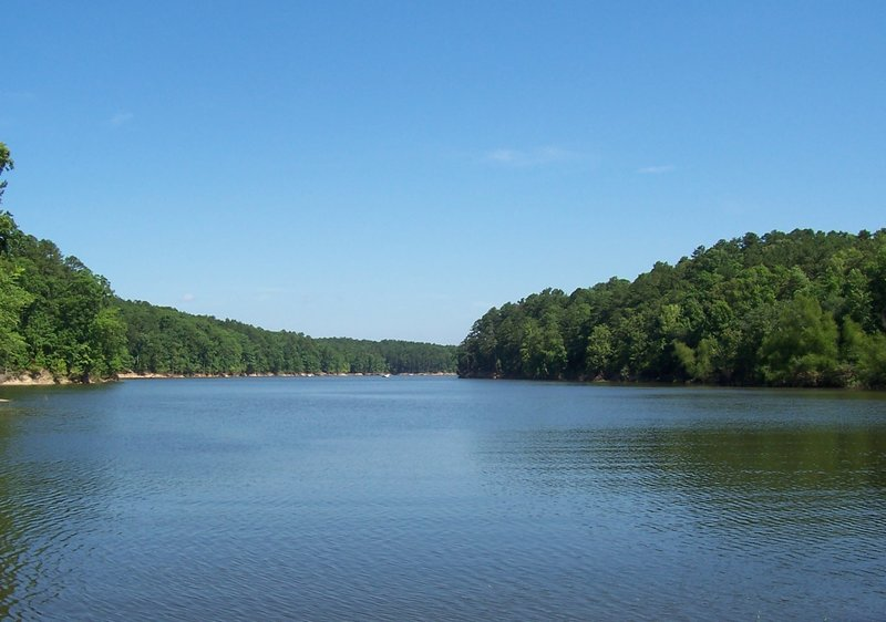 One of the lake's coves