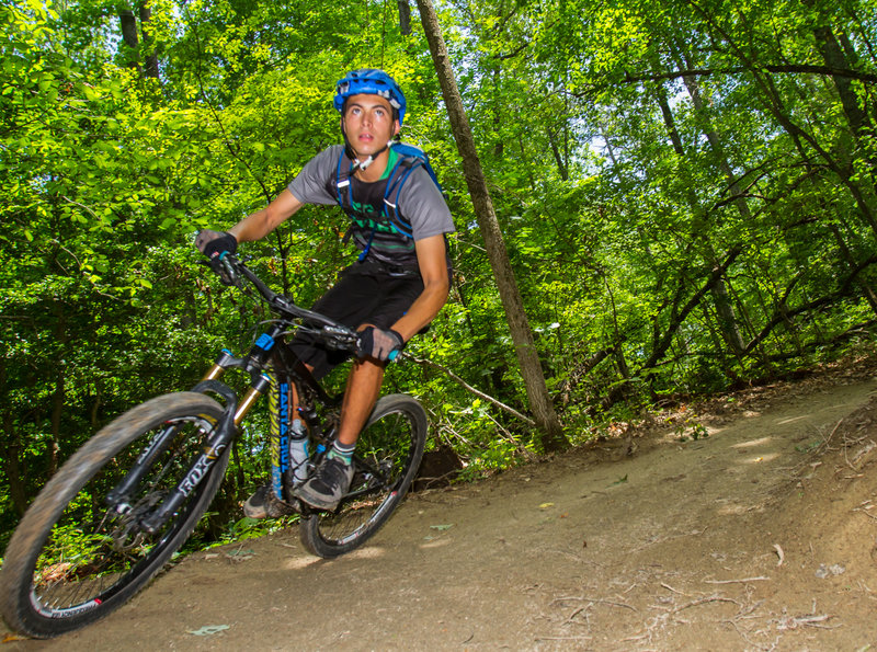 Railing one of berms riding Blueberry hill