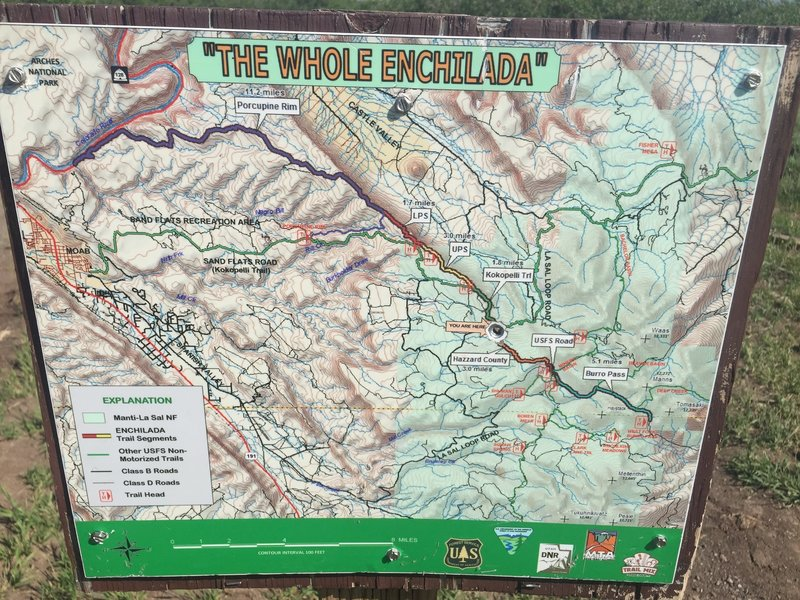 Trail Map Sign
