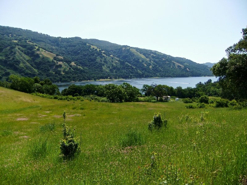 The view towards Coyote Lake.