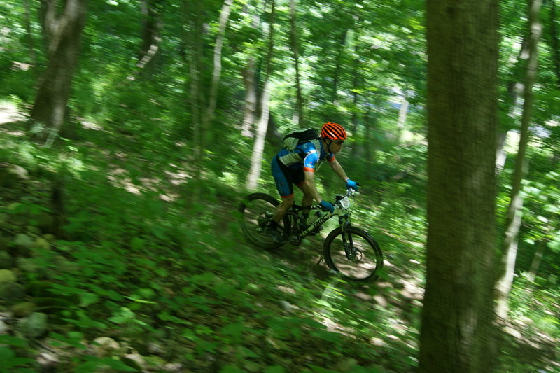 Racer in the 2015 Mohican 100