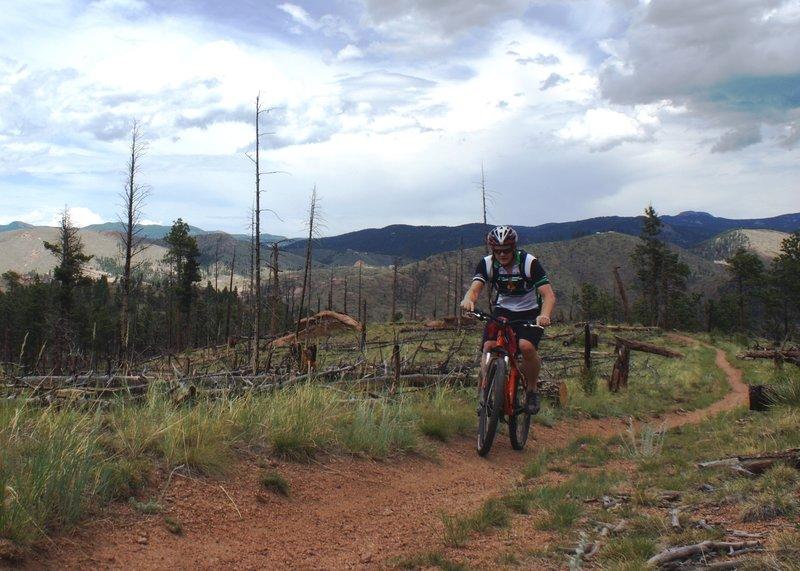 Riding on Buck Gulch Trail