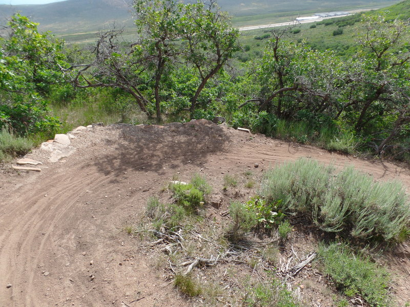 View of the surrounding area from a berm turn on Rusty Shovel.