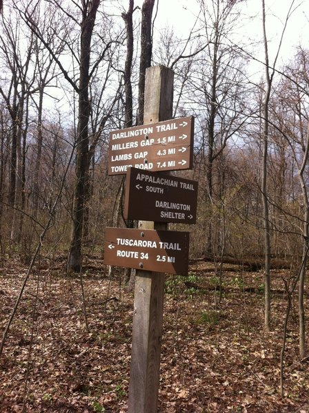 Intersection with Appalachian Trail.
