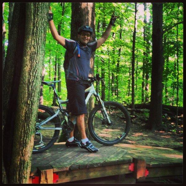 Having some fun on the X-Treem Trail.