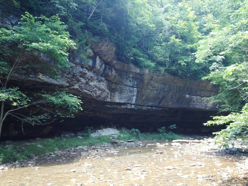 Big Sinking Creek where the Sheltowee Trace crosses