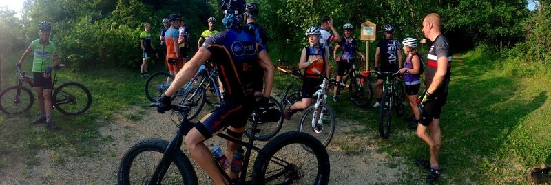 The trailhead has a current map displayed.  Every Tuesday at 6pm from May to October, WAMB hosts a time trial for riders of all abilities!