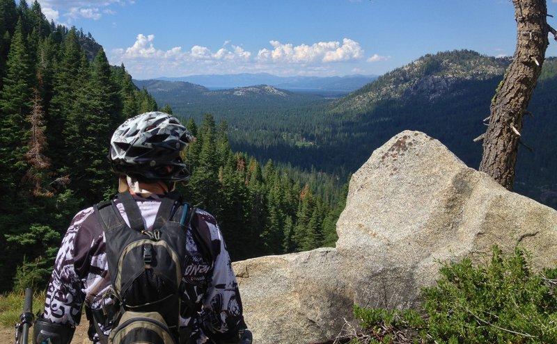 Last view of Lake Tahoe