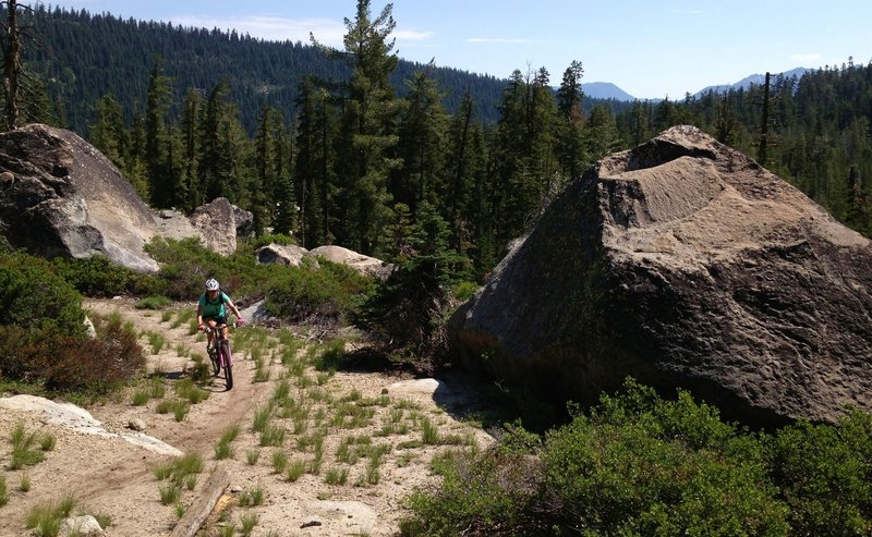 Big rocks off Pony XP in Huckleberry Canyon