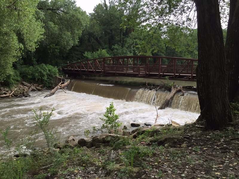 Bridge over Walnut River.  Bring your fishing pole, you can fish off it.