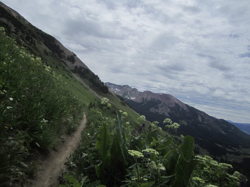 View after starting the descent. Amazing views. Many stops to simply take it all in