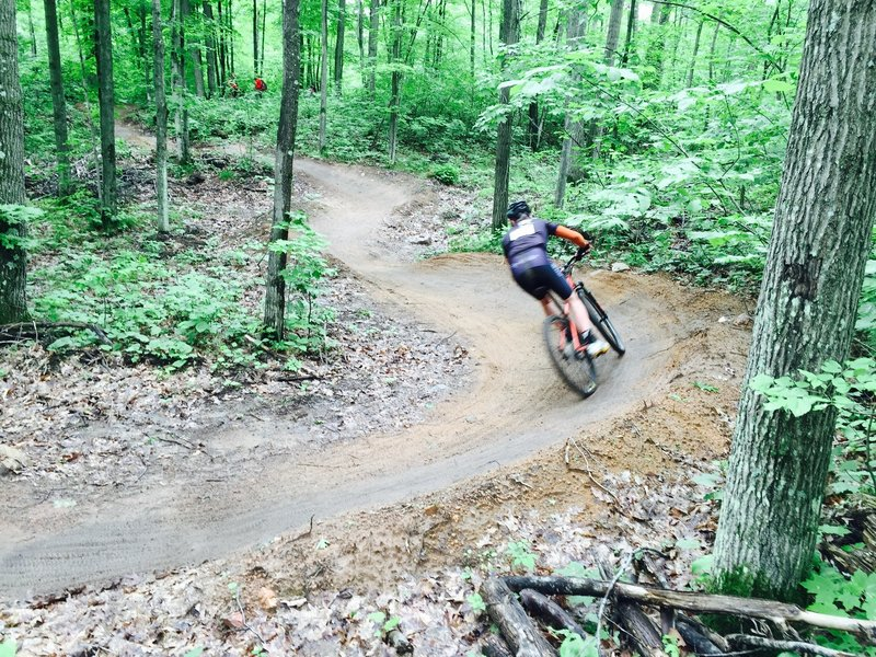 Berms on second drop in of Outbound