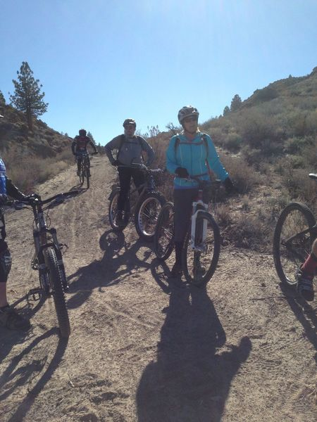 Waiting for the FatbikeMammoth Group ride to regroup.