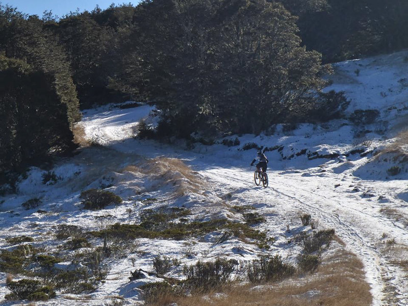 Early winter snow on Beebys 4wd road