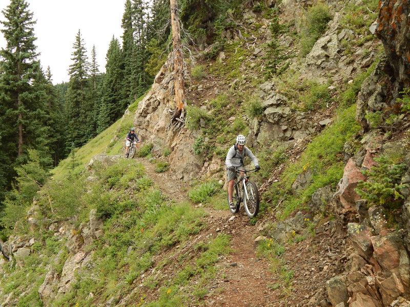 Steep slope traverse