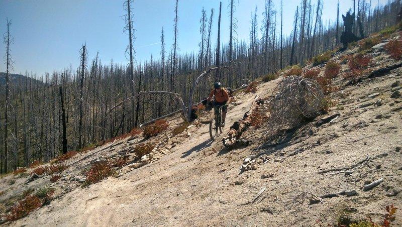 Descending off the summitt.