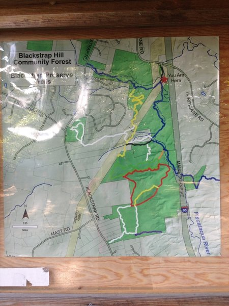 Trail map in parking lot
