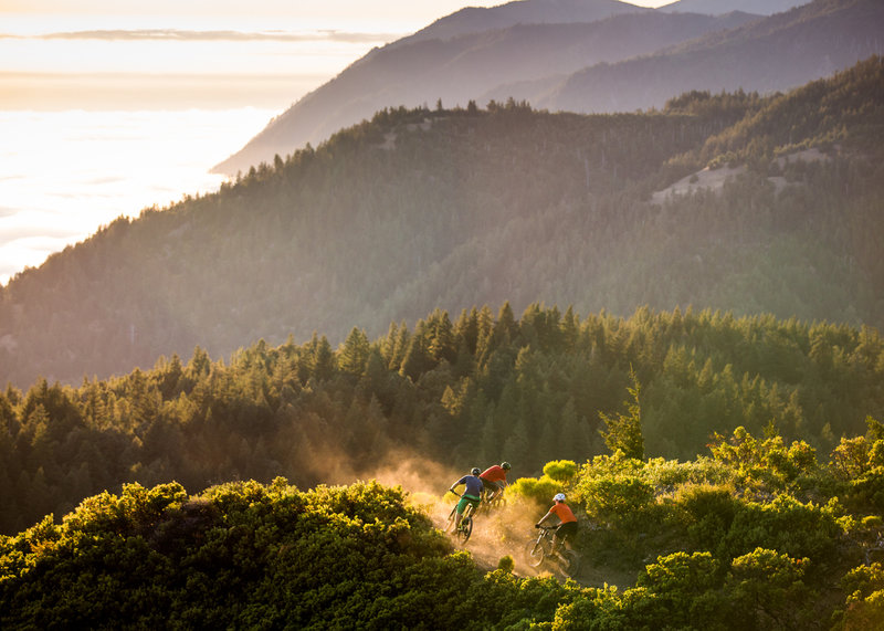 Sunset on the Pacific Rim Trail.
