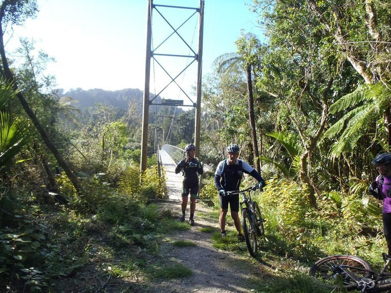 The 148m Heaphy River suspension bridge