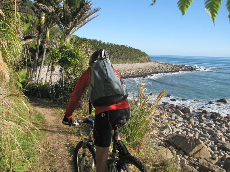 Heading south on the coastal part of the Heaphy Track
