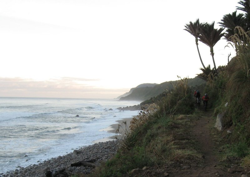 An early start along the coast from the Karamea end of the track