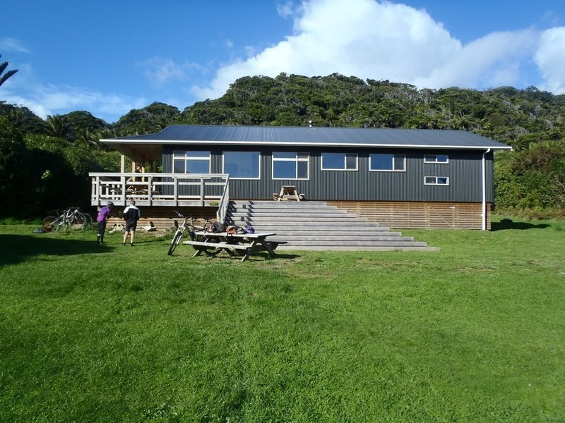 The new Heaphy Hut built to cope with the influx of mountain bikers when the track was opened for biking in 2012
