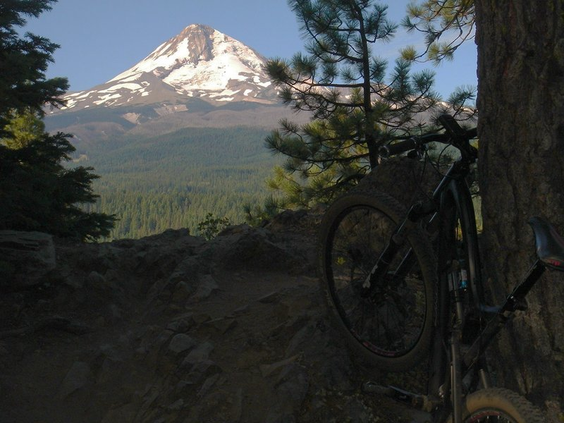 Mt. Hood comes into view...