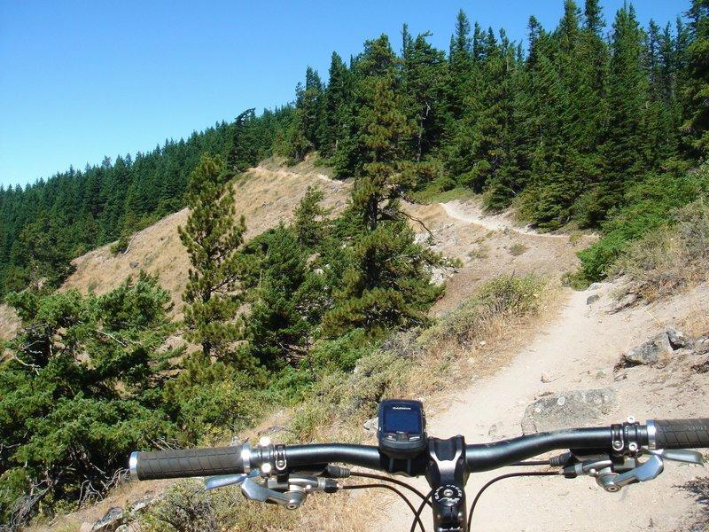 Ridge riding...